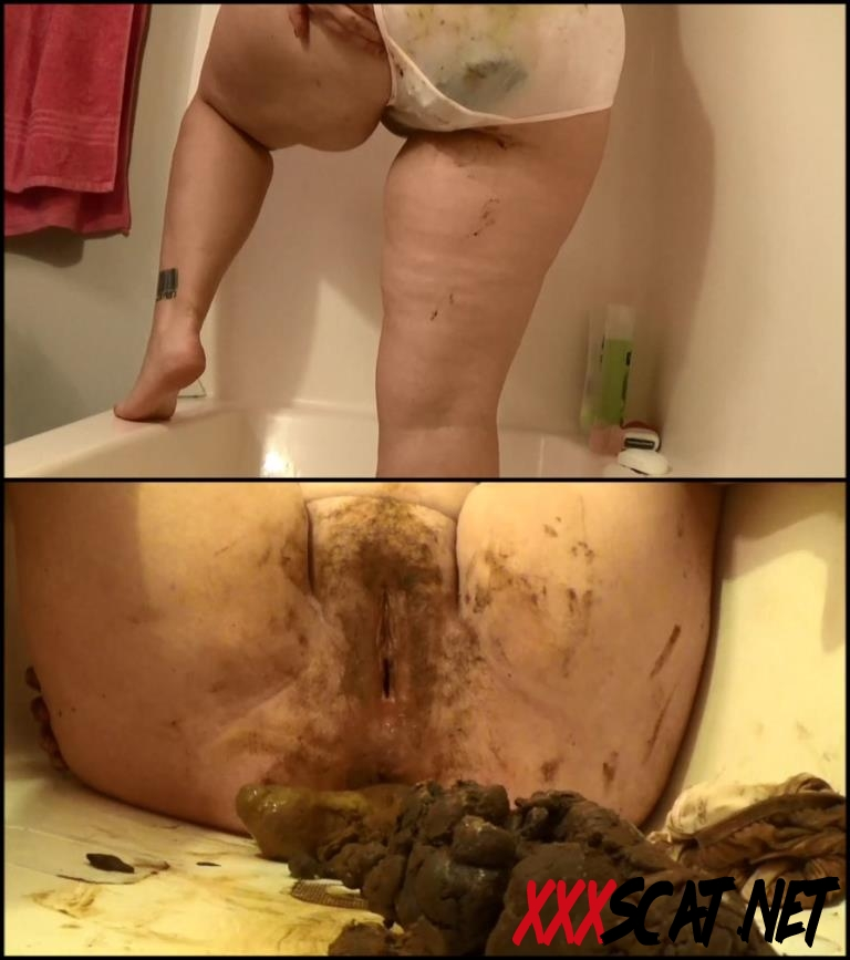 [Special #579] BBW Samantha poop in satin panties and dirty scat play 2018 [179.579_BFSpec-579] (FullHD)