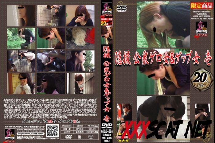 PKGD-001 Vomiting 隠撮 公衆ゲロ女&ゲップ女 ポアハウス スカトロ 嘔吐 Hidden Camera 2018 [17.1045_PKGD-001] (SD)