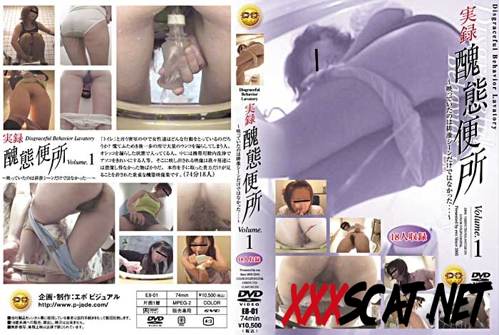 E8-01 Defecation 実録 Accident in panty 醜態便所 Abominable Toilet 2018 [4.1184_E8-01] (SD)